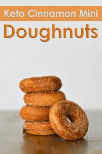 Keto Cinnamon Mini Donuts