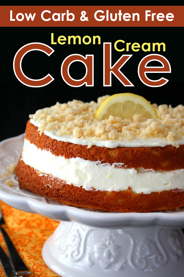 Low Carb and Gluten Free Lemon Cream Cake