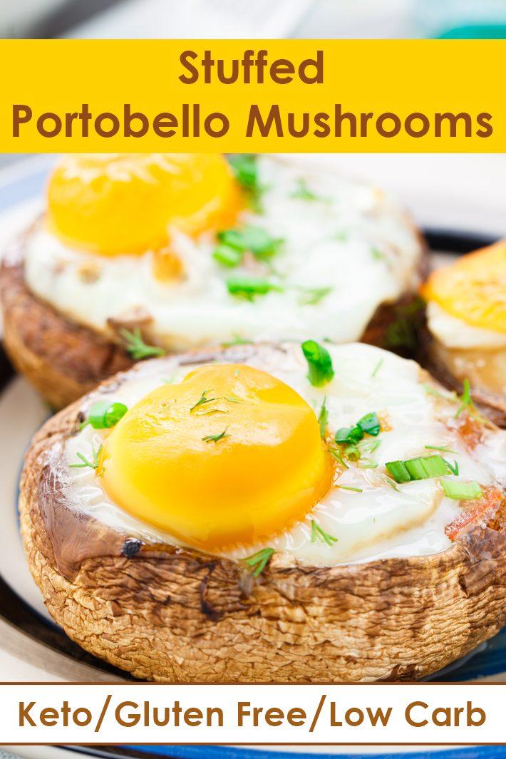 Quick and Easy Keto Stuffed Portobello Mushrooms
