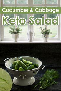 Keto Salad - Cabbage & Cucumber