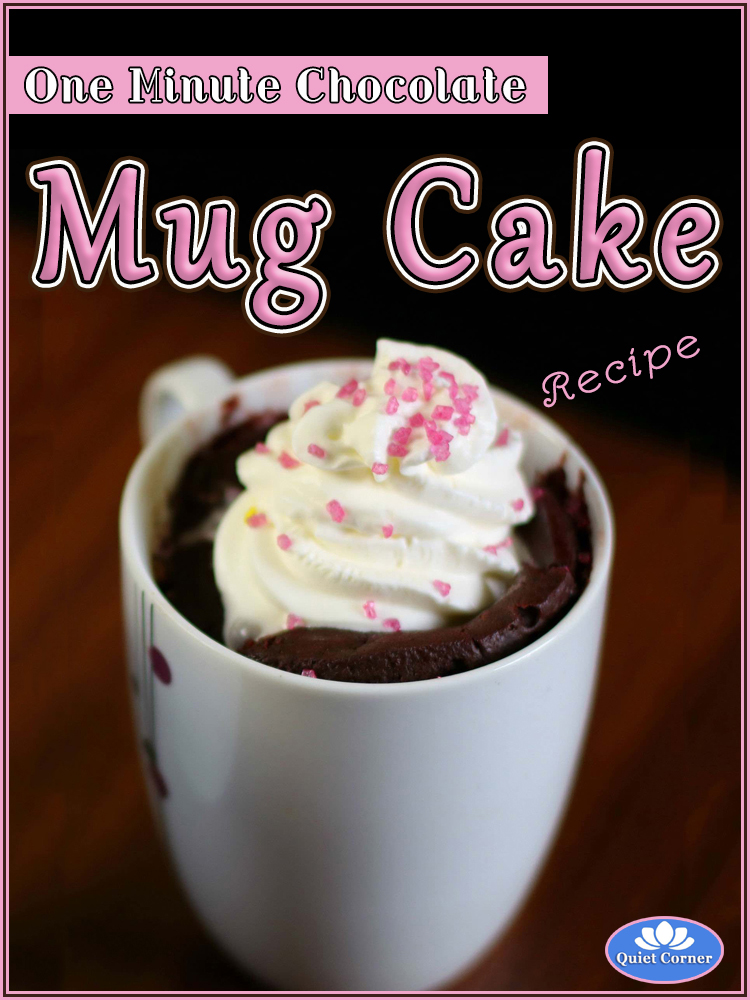 One Minute Chocolate Mug Cake